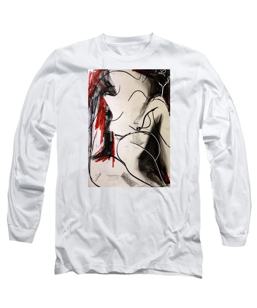 Long Sleeve T-Shirt featuring the drawing Chameleon by Helen Syron
