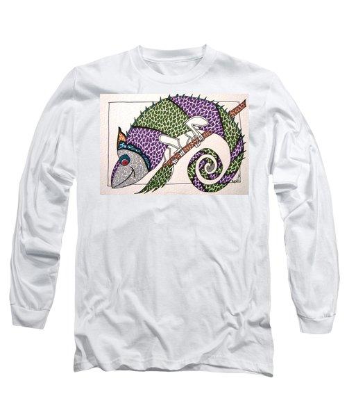 Chameleon Long Sleeve T-Shirt by Kruti Shah