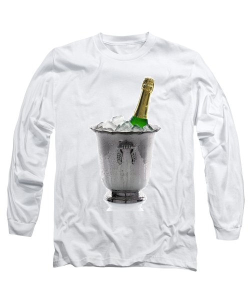Champagne Bottle On Ice Long Sleeve T-Shirt