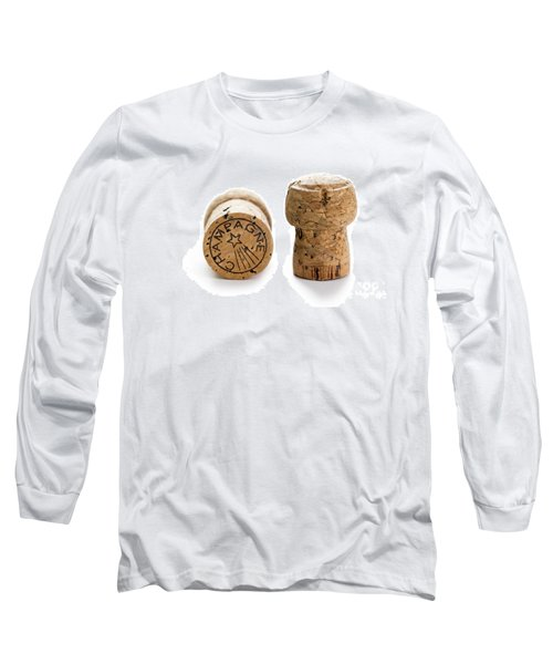 Long Sleeve T-Shirt featuring the photograph Champagne Corks by Lee Avison
