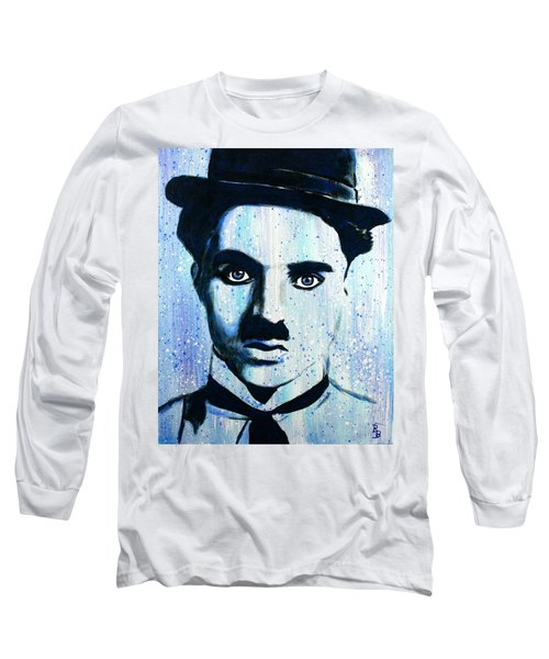 Charlie Chaplin Little Tramp Portrait Long Sleeve T-Shirt