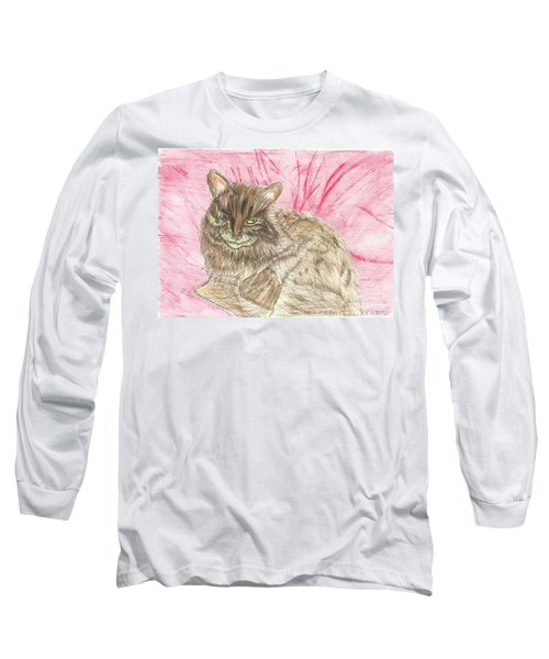 Long Sleeve T-Shirt featuring the painting Charlie by Tracey Williams