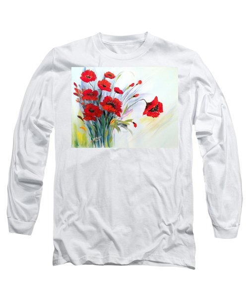 Long Sleeve T-Shirt featuring the painting Charming by Dorothy Maier