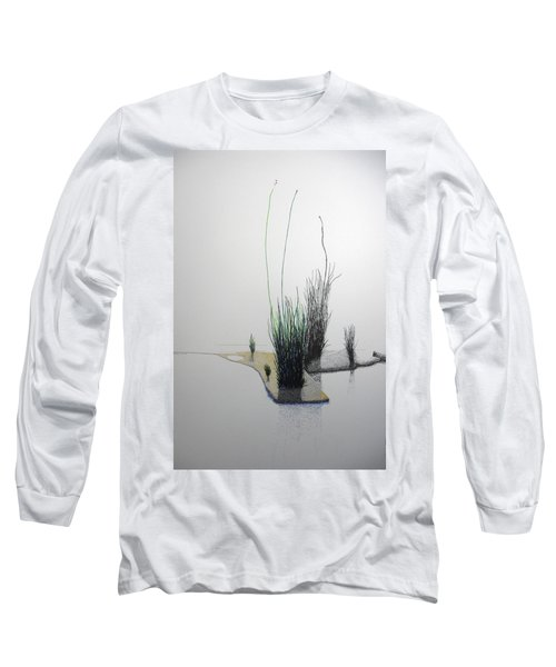 Long Sleeve T-Shirt featuring the painting Chasm by A  Robert Malcom