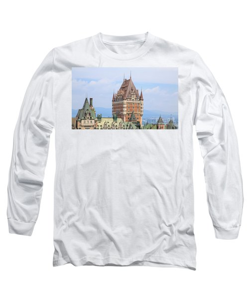 Chateau Frontenac Quebec City Canada Long Sleeve T-Shirt