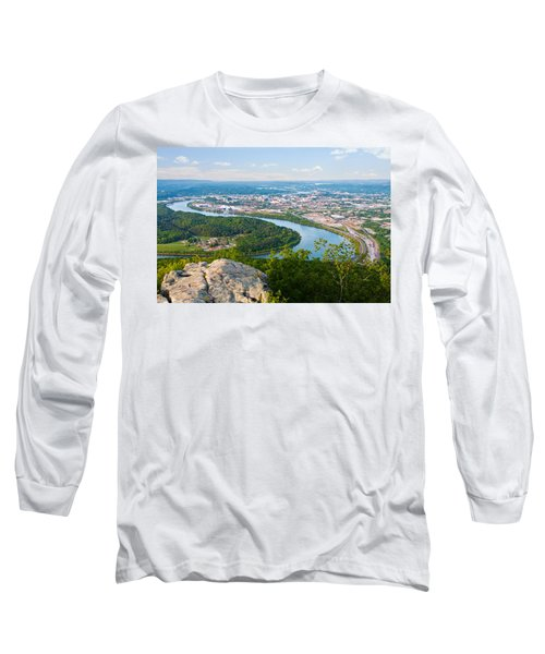 Chattanooga Spring Skyline Long Sleeve T-Shirt by Melinda Fawver