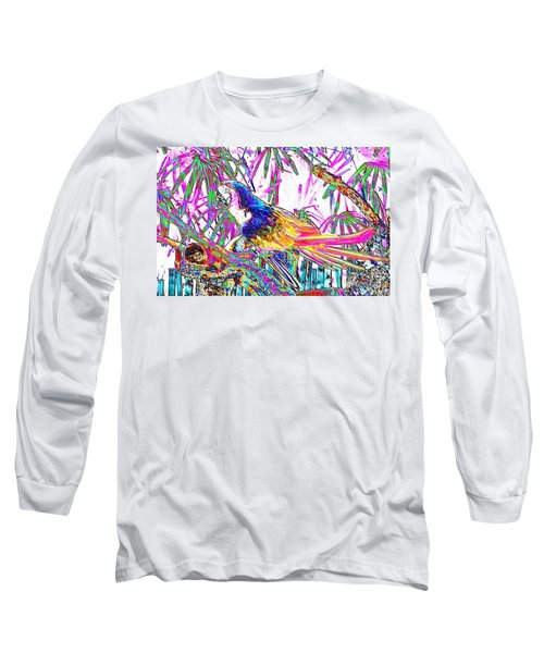 Cheerful Parrot. Colorful Art Collection. Promotion - August 2015 Long Sleeve T-Shirt