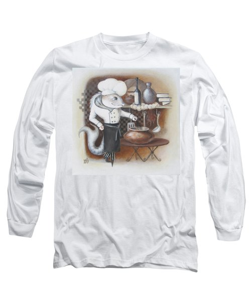 Long Sleeve T-Shirt featuring the painting Chef by Marina Gnetetsky