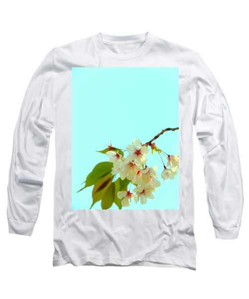 Cherry Blossom Flowers Long Sleeve T-Shirt by Rachel Mirror