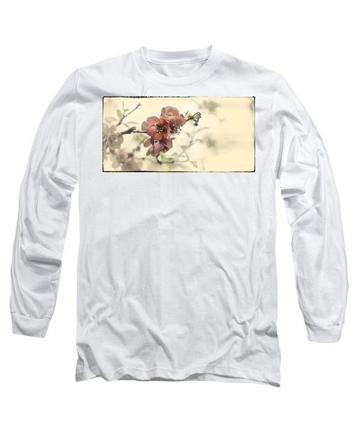 Long Sleeve T-Shirt featuring the photograph Cherry Blossoms by Peter v Quenter