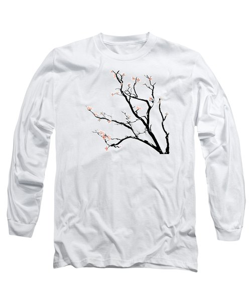 Cherry Blossoms Tree Long Sleeve T-Shirt by Gina Dsgn
