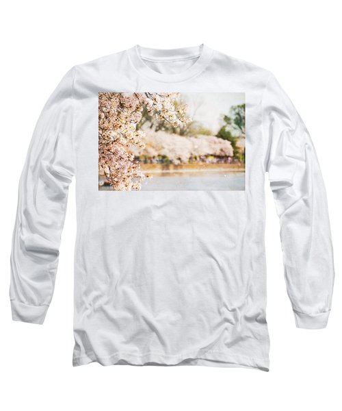 Long Sleeve T-Shirt featuring the photograph Cherry Blossoms In Washington Dc by Vizual Studio