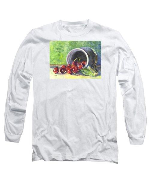 Cherry Pickins Long Sleeve T-Shirt by Carol Wisniewski