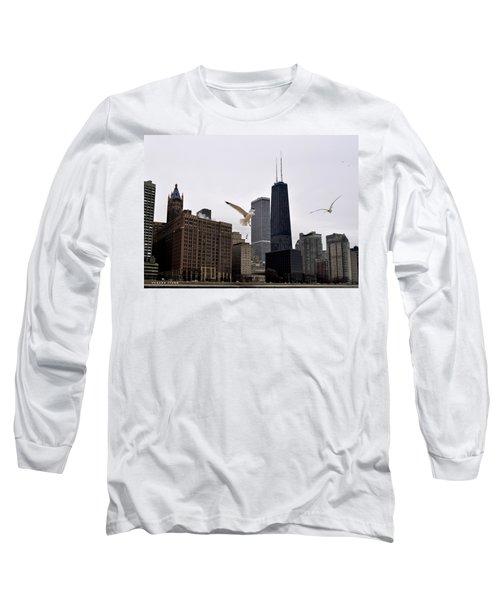 Chicago Birds 2 Long Sleeve T-Shirt by Verana Stark