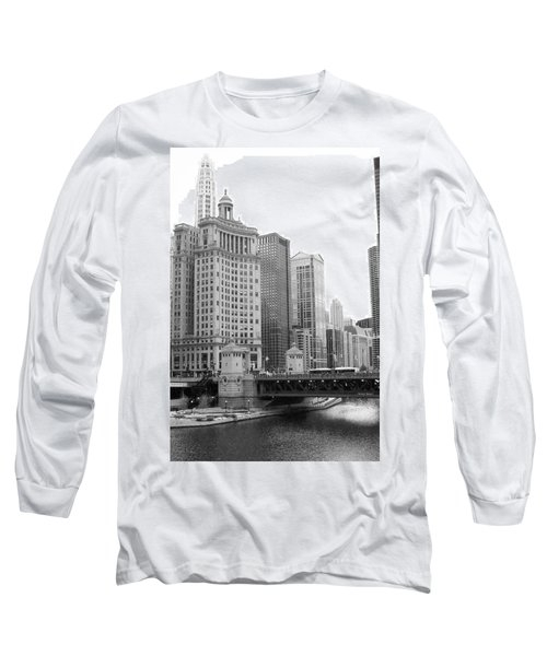 Chicago Downtown 2 Long Sleeve T-Shirt by Bruce Bley