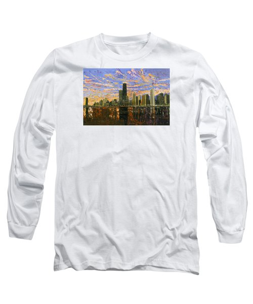 Chicago Long Sleeve T-Shirt by Mike Rabe