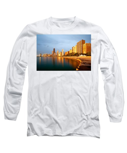 Chicago Skyline Long Sleeve T-Shirt by Sebastian Musial
