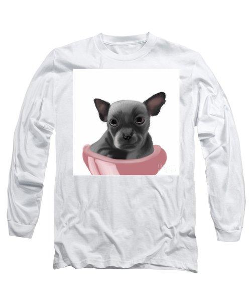 Chihauhau In A Bowl Long Sleeve T-Shirt