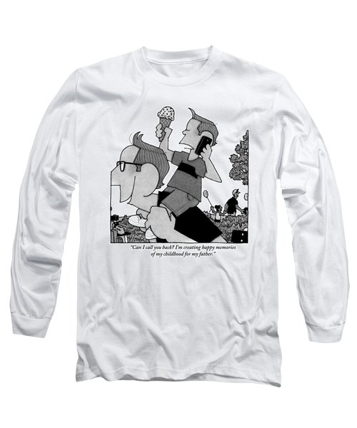 Child On Father's Shoulders Long Sleeve T-Shirt