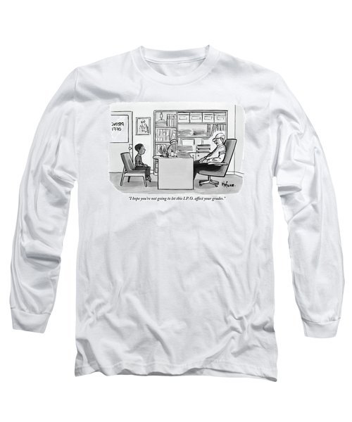 Child Sits Across Desk From Principal Long Sleeve T-Shirt