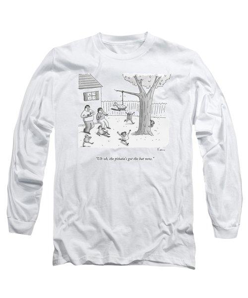 Children And Parents Run Away From A Pinata Long Sleeve T-Shirt