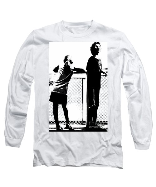 Long Sleeve T-Shirt featuring the photograph Children On Governors Island Ferry Ride by Lilliana Mendez
