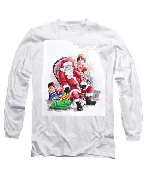 Children Patiently Waiting Up For Santa. Long Sleeve T-Shirt