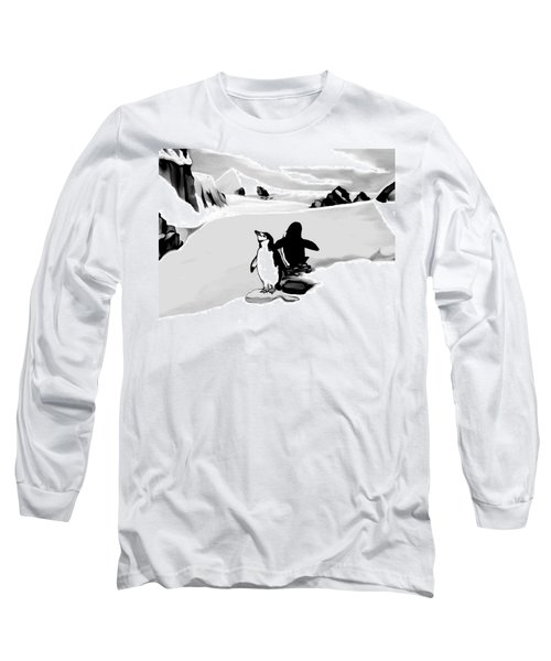 Chin Strap Penguins Long Sleeve T-Shirt