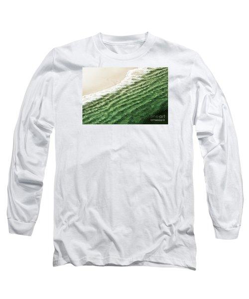 China Beach Wave Ocean Theme Pillow Print Tote Long Sleeve T-Shirt