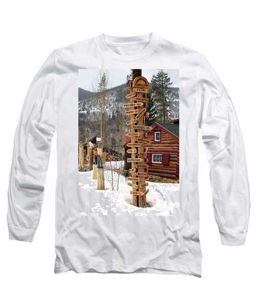 Long Sleeve T-Shirt featuring the photograph Choose Your Direction by Fiona Kennard