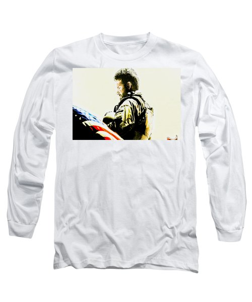 Chris Kyle Long Sleeve T-Shirt by Brian Reaves