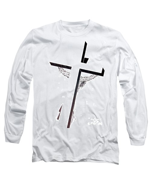 Christ On Cross Long Sleeve T-Shirt by Justin Moore
