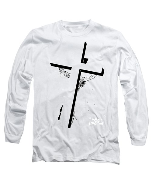 Christ On The Cross Long Sleeve T-Shirt by Justin Moore