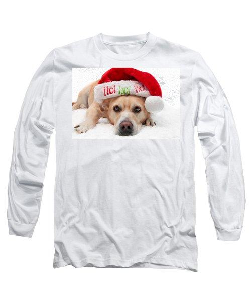 Christmas Dog Long Sleeve T-Shirt by Aaron Berg