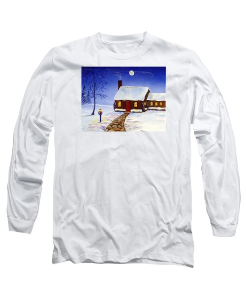 Long Sleeve T-Shirt featuring the painting Christmas Eve by Lee Piper