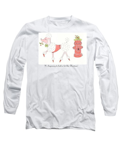 Christmas Poodle Long Sleeve T-Shirt