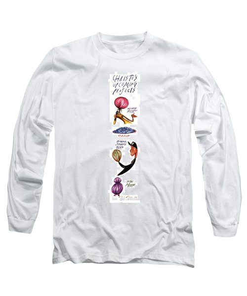 Christo's Upcoming Projects Long Sleeve T-Shirt by Steve Brodner