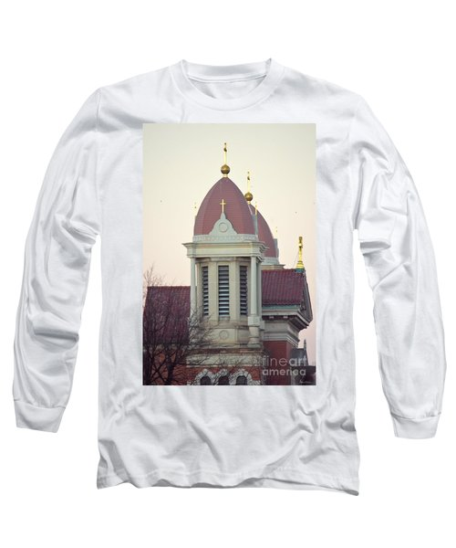Church Of Gold Crosses Long Sleeve T-Shirt by Maria Urso
