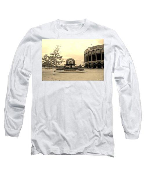 Citi Field In Sepia Long Sleeve T-Shirt