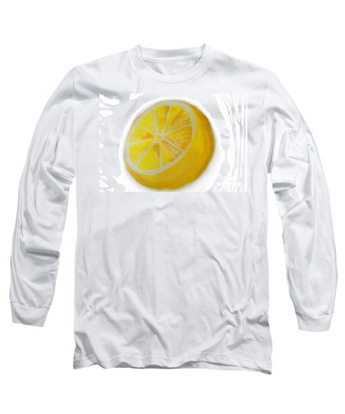 Long Sleeve T-Shirt featuring the painting Citrus by Marisela Mungia