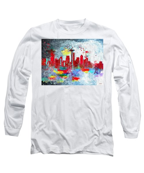 City Of Seattle Grunge Long Sleeve T-Shirt