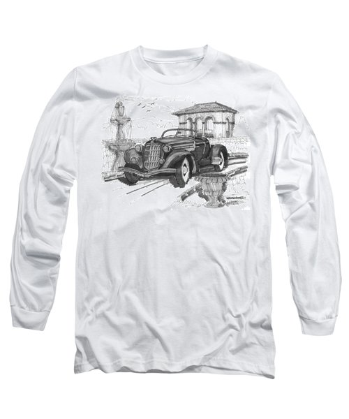 Classic Auto With Formal Gardens Long Sleeve T-Shirt