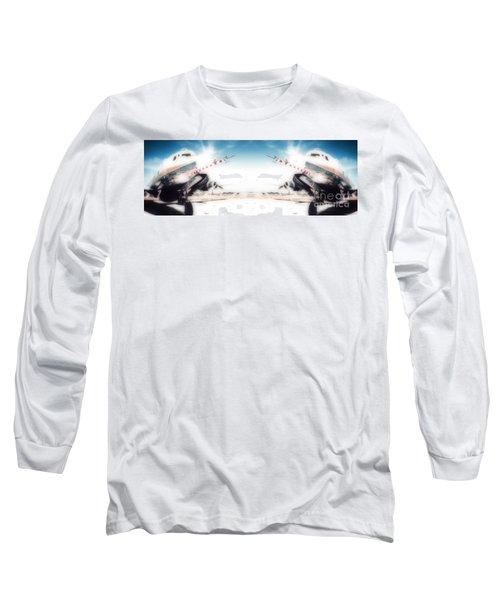 Long Sleeve T-Shirt featuring the photograph Propeller Aircraft by R Muirhead Art