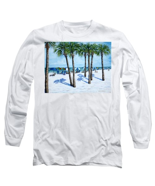 Clearwater Beach Morning Long Sleeve T-Shirt by Penny Birch-Williams