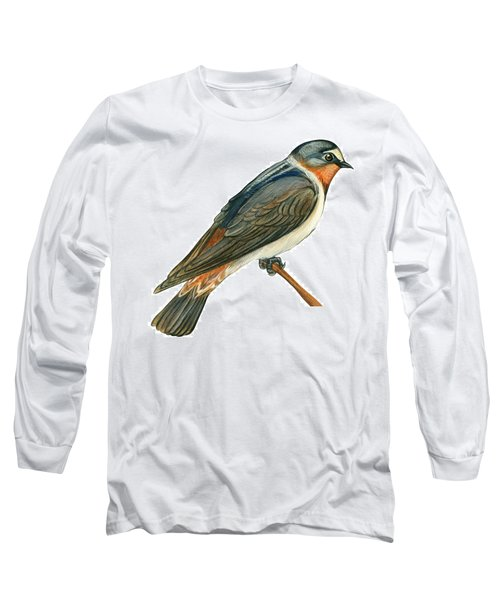 Cliff Swallow  Long Sleeve T-Shirt by Anonymous
