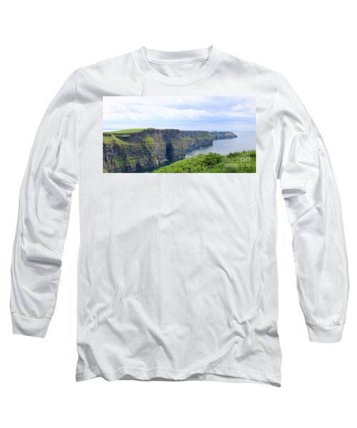 Cliffs Of Moher Panorama 3 Long Sleeve T-Shirt