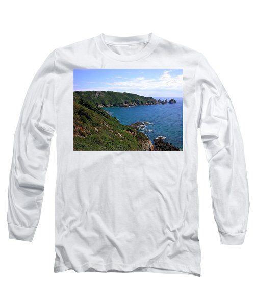 Cliffs On Isle Of Guernsey Long Sleeve T-Shirt