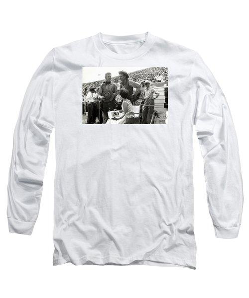Clint Eastwood  Eric Fleming Characters Rowdy Yates Salinas California 1962 Long Sleeve T-Shirt by California Views Mr Pat Hathaway Archives