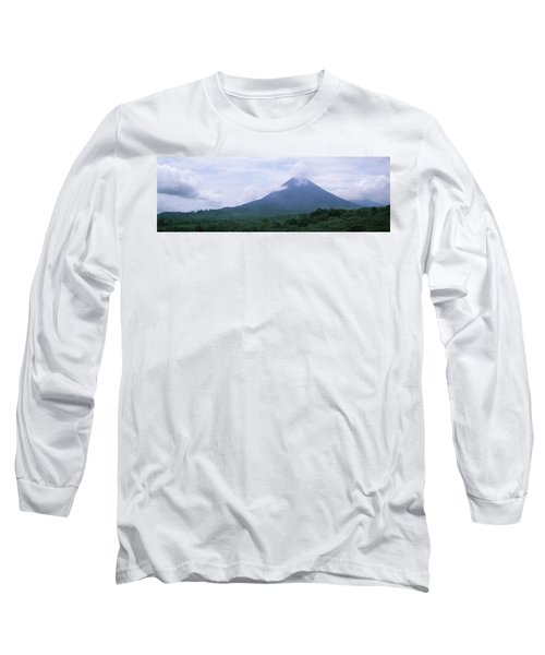 Clouds Over A Mountain Peak, Arenal Long Sleeve T-Shirt