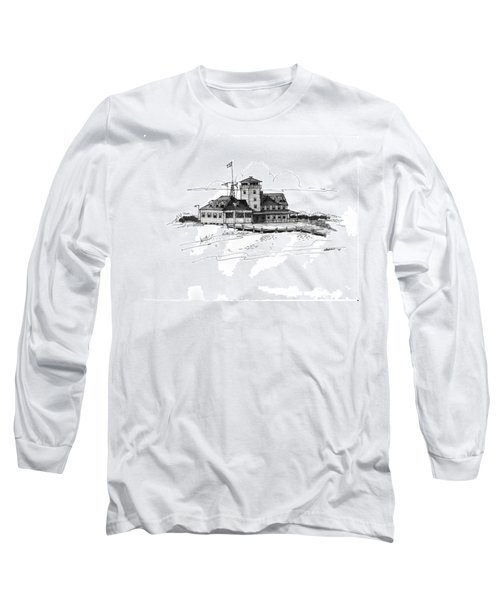 Coast Guard Station 2 Ocracoke 1970s Long Sleeve T-Shirt